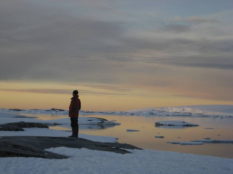 Lone Antarctic tourist, Cruise to Antarctica