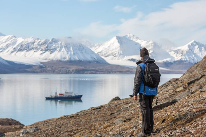 Hiking in Greenland, Arctic cruise