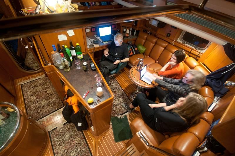 Icebird Dinning room, Sail to Antarctica