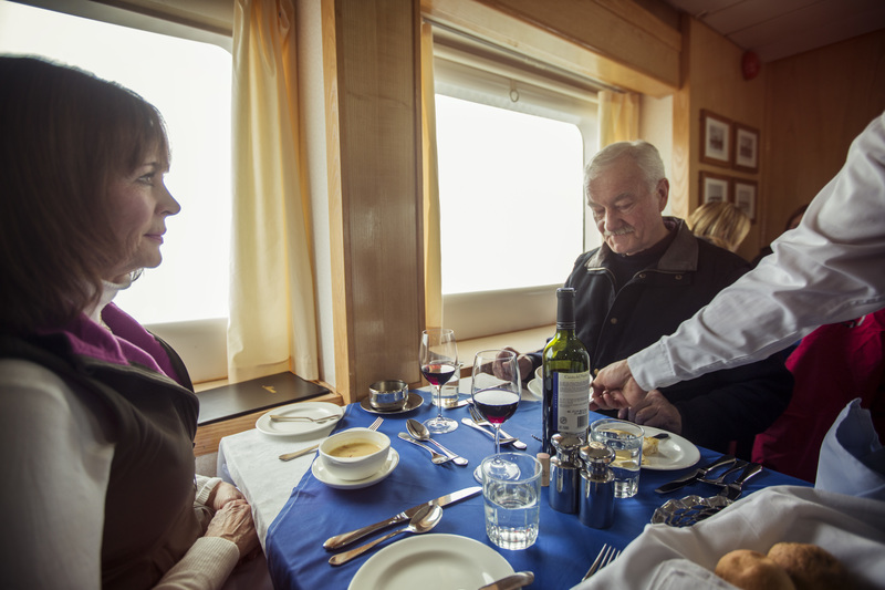 G Expedition Dinning room, Antarctic cruise ship