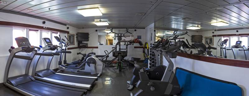 G Expedition gym, Antarctic cruise ship