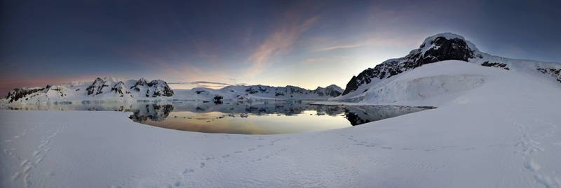 Antarctica twilight, Cruise to Antarctica