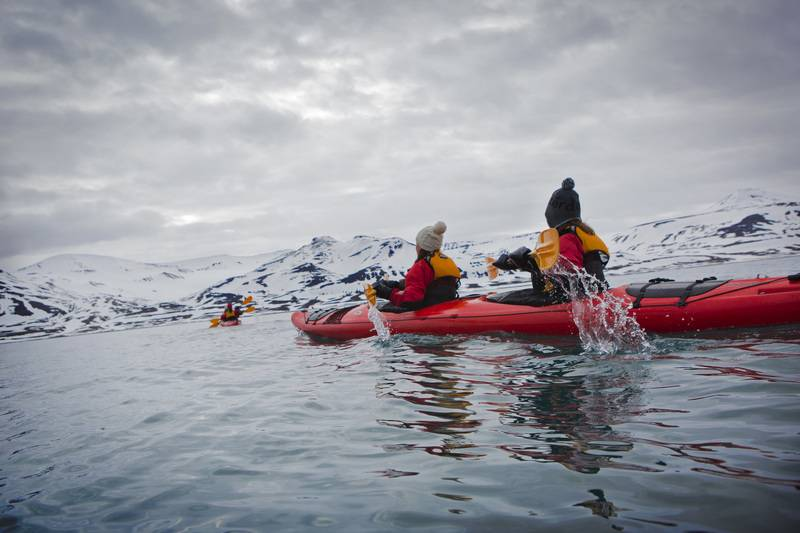 Kayaking in Spitsbergen, Arctic cruise