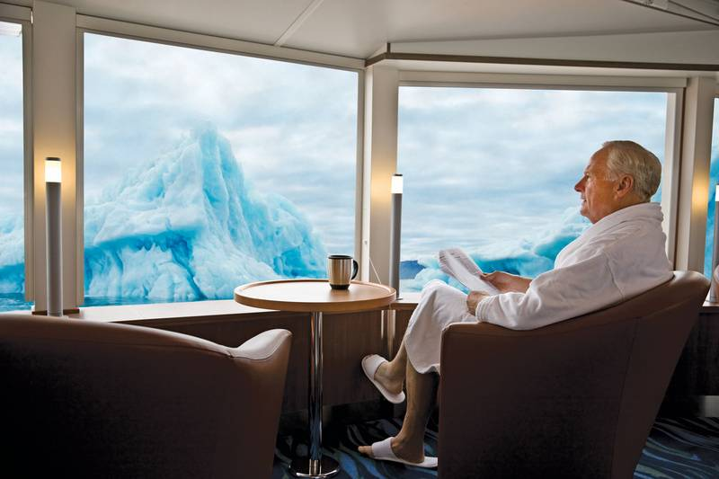 National Geographic Explorer lounge, Cruise to Antarctica