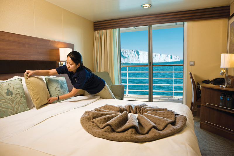 National Geographic Explorer cabin, Antarctic cruise ship