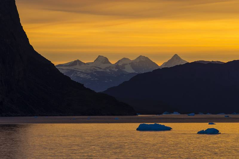 Arctic sunset, Arctic cruise