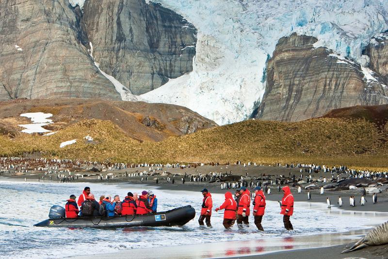 Antarctica shore landing, Antarctic cruises