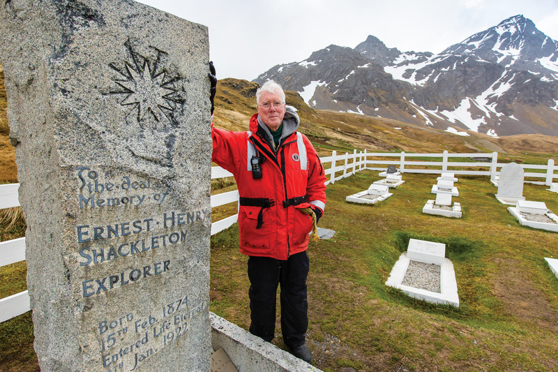 Shackleton's Grave on South Georgia, Antarctic cruise