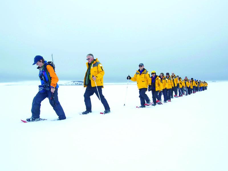 Snowshoeing in Antarctica, Cruise to Antarctica