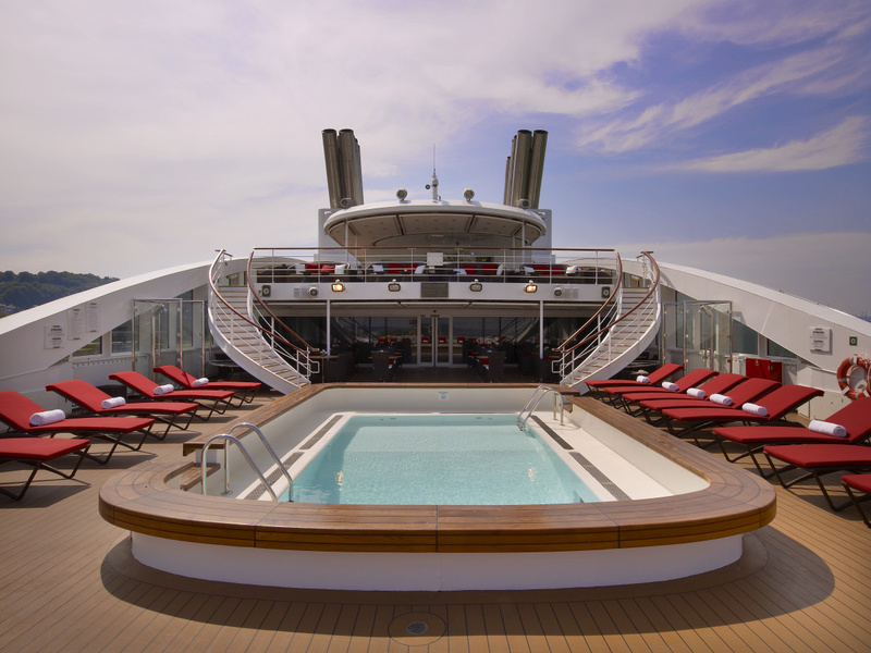 La Boreal Pool deck, Antarctic cruise ship