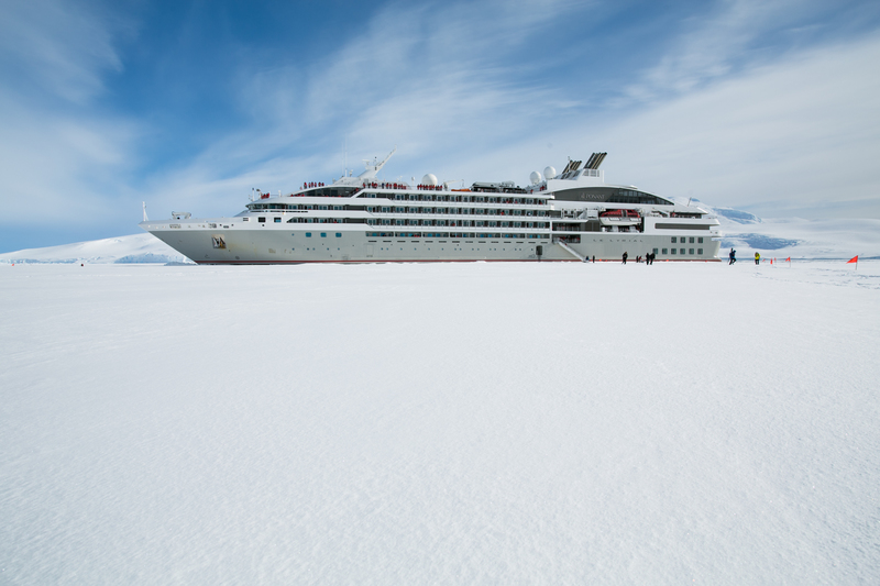 Antarctic cruise ship in ice, Cruise to Antarctica