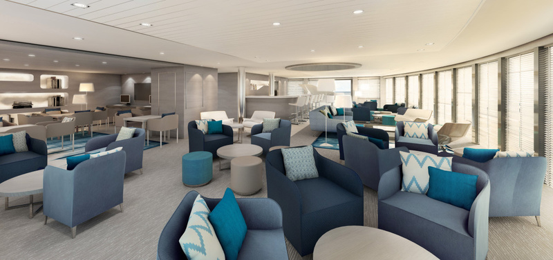 Le Lyrial Lounge, Antarctic cruise ship