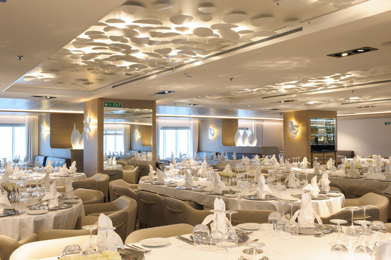 Le Soleal Dinning room, Antarctic cruise ship