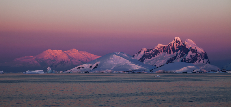 Antarctic twilight hues, Antarctica cruise