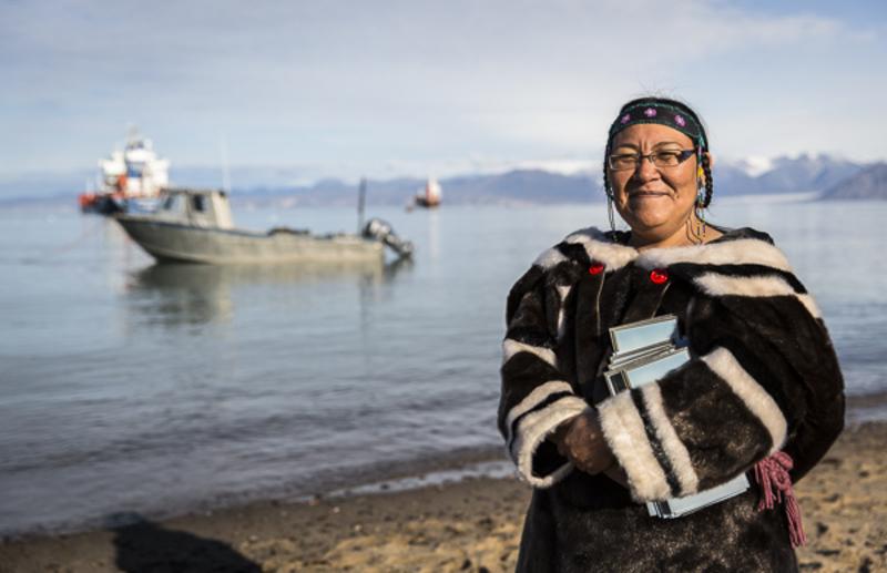 Inuit lady.