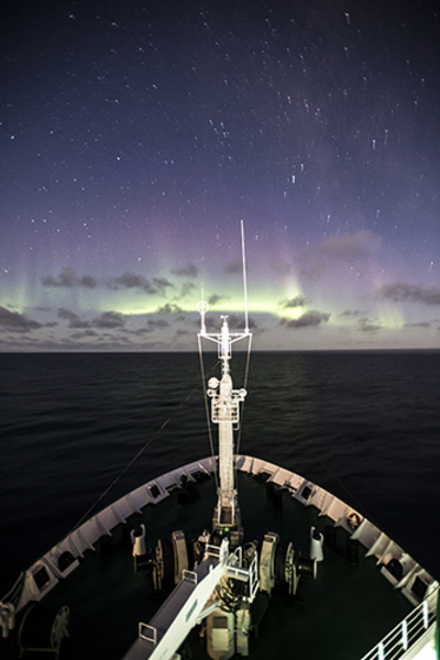 Northern lights, Northwest Passage cruise