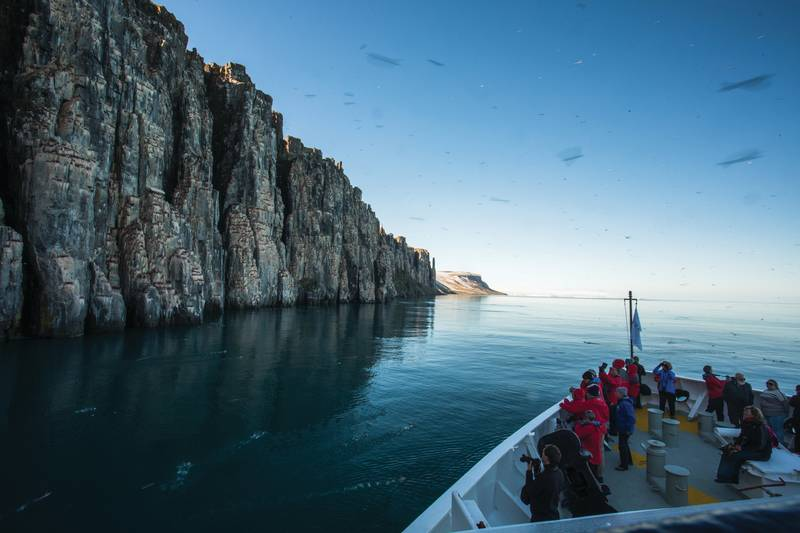Arctic cliffs, Spitsbergen, Arctic Polar bear cruise