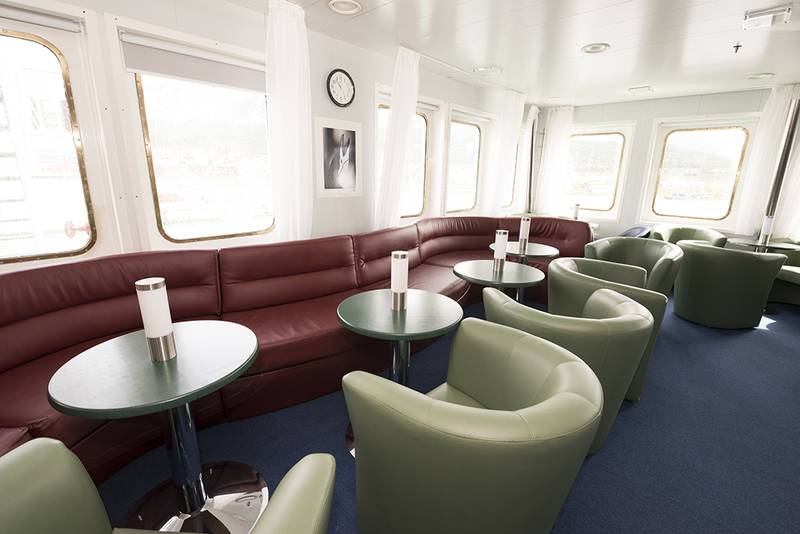 Akademic Ioffe Lounge, Antarctic cruise ship