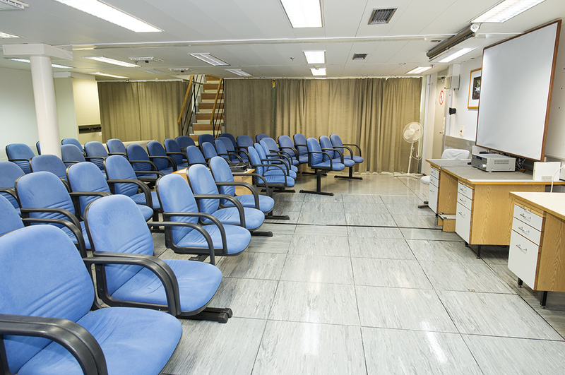 Akademic Ioffe Lecture room, Antarctic cruise ship