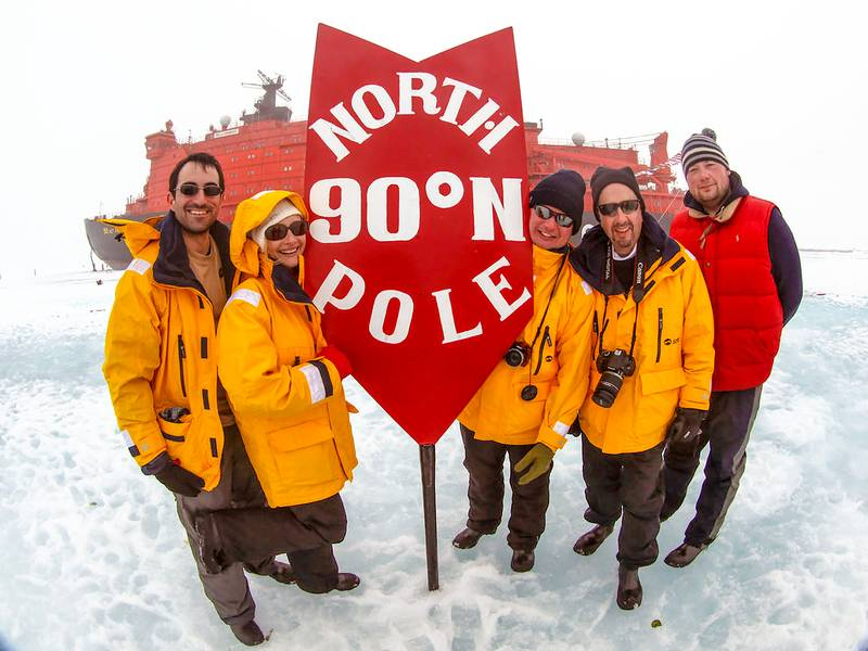 Standing on the North Pole, North Pole cruise