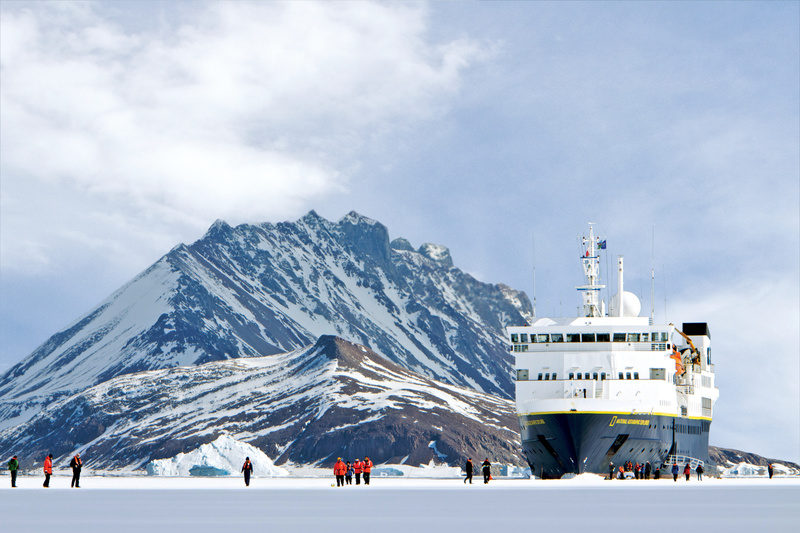 National Geographic Explorer in ice, Cruise to Antarctica