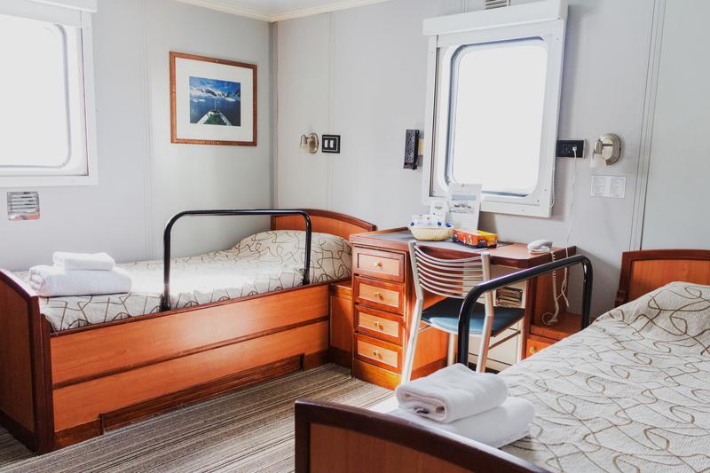Ushuaia cabin, Antarctic cruise ship