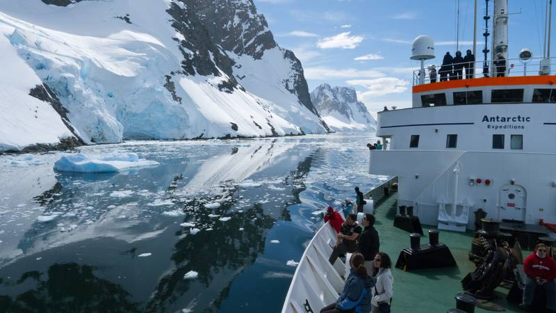 MV Ushuaia in Antarctica, Antarctic cruise ship