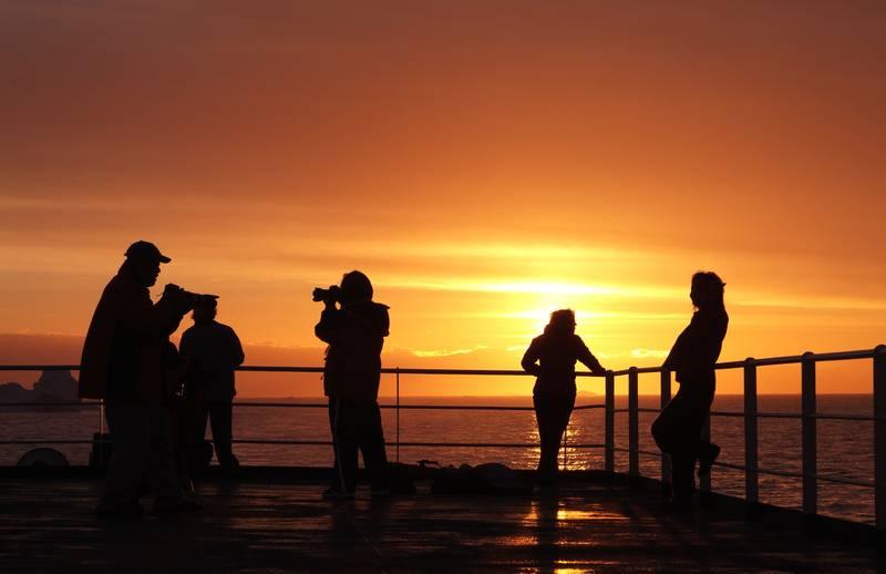 Antarctica sunset, Cruise to Antarctica