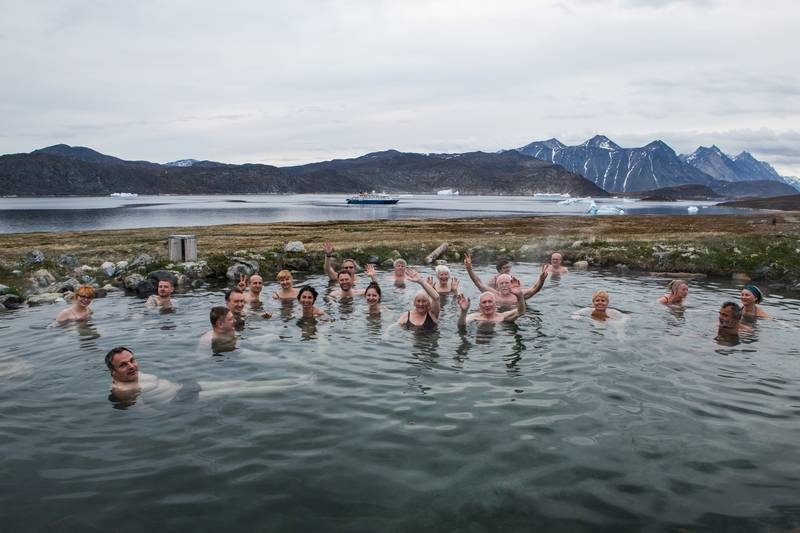 Arctic swimming, Arctic cruise