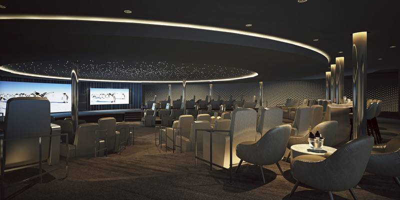 Eclipse Lecture room, Luxury Antarctic cruise ship