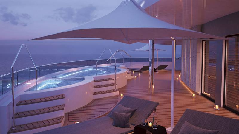 Eclipse Pool deck, Luxury Antarctic cruise ship