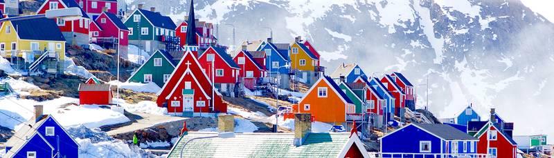 Greenland village, Arctic cruise