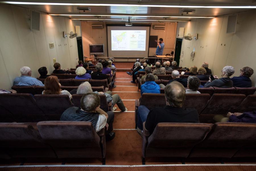Kapitan Khlebnikov lecture room.