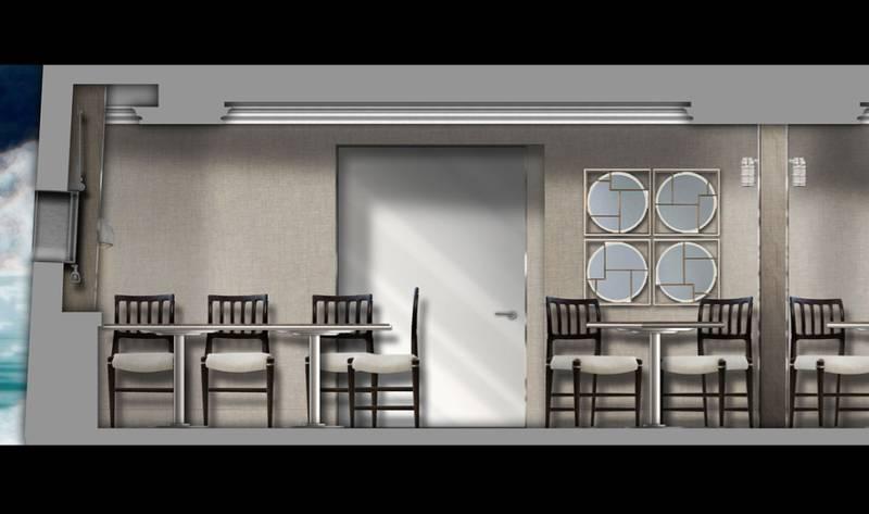 Ventus Australis dining room.