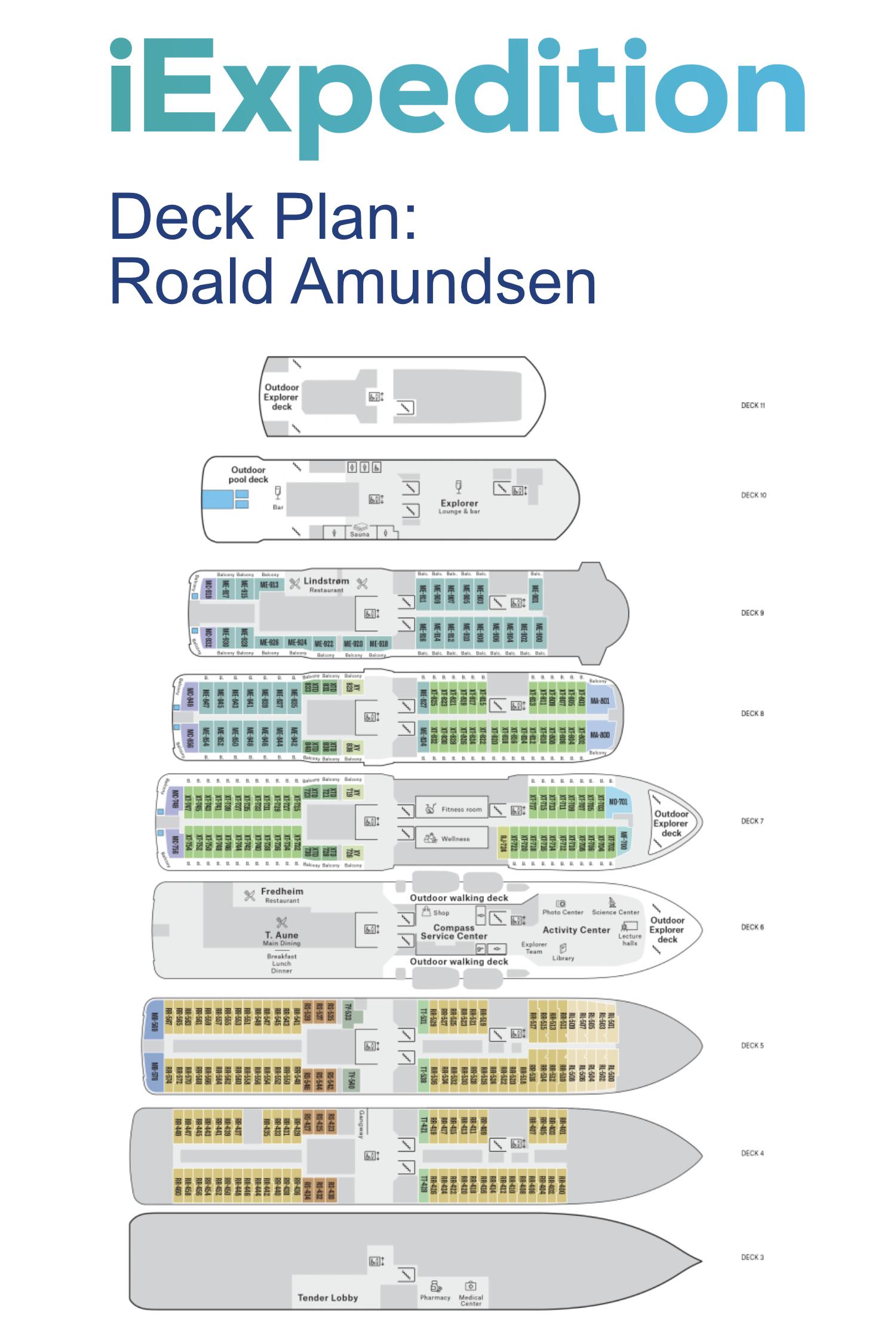 Roald amundsen deck plan