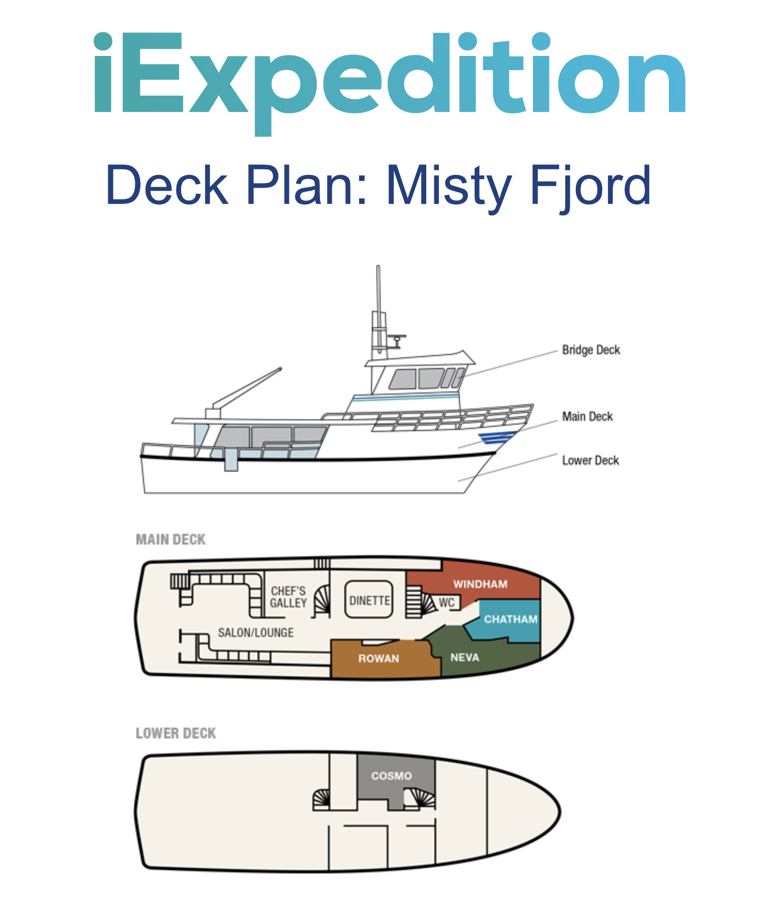 Misty fjord deck plan