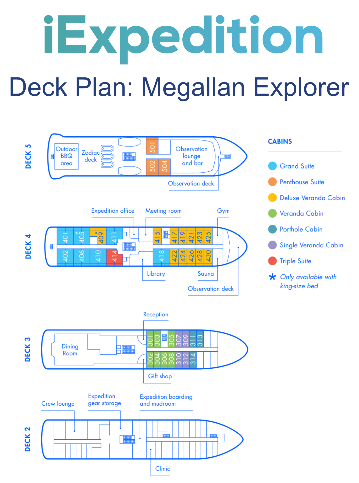 Megallan explorer deck plan