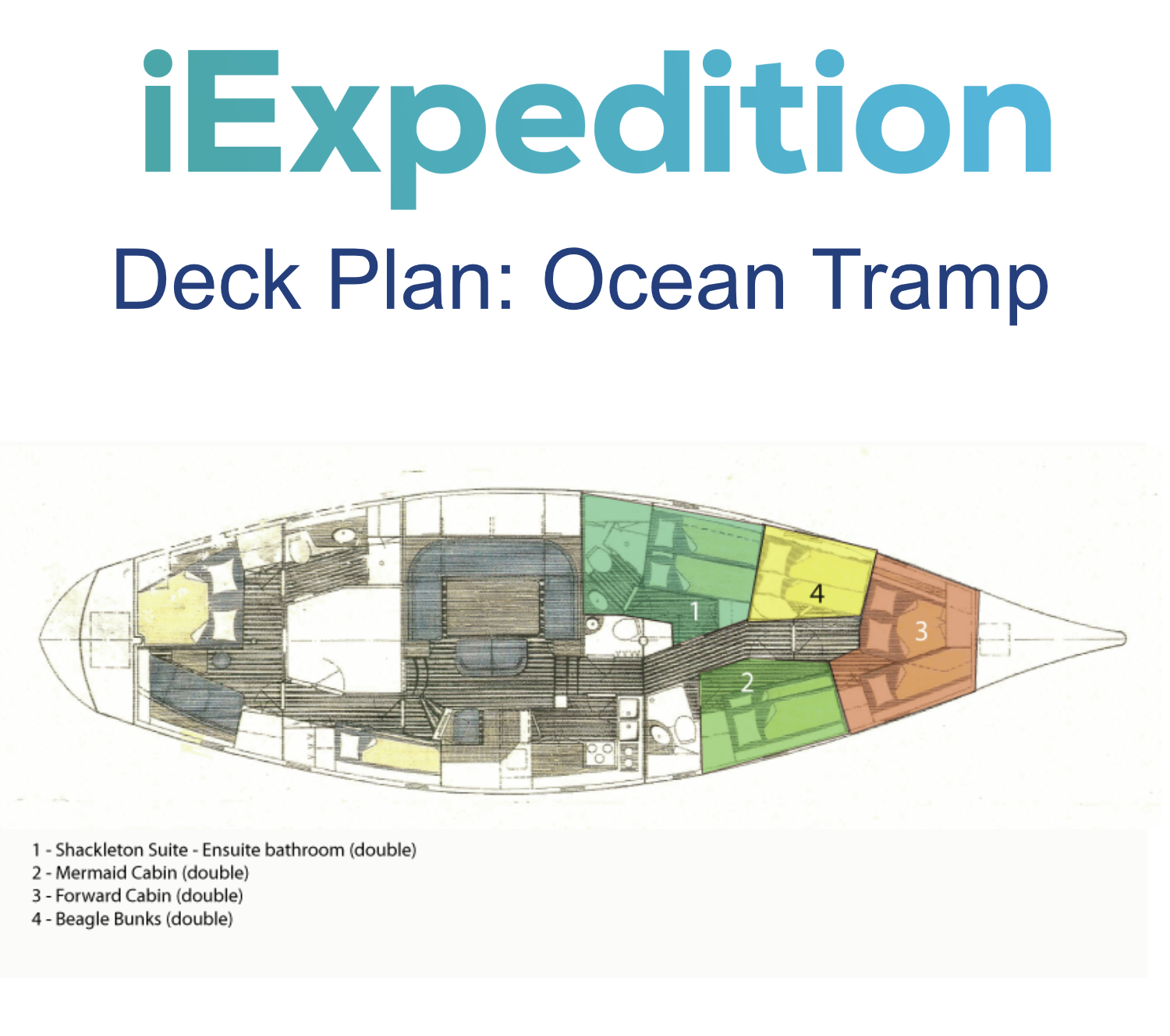 Ocean tramp deck plan