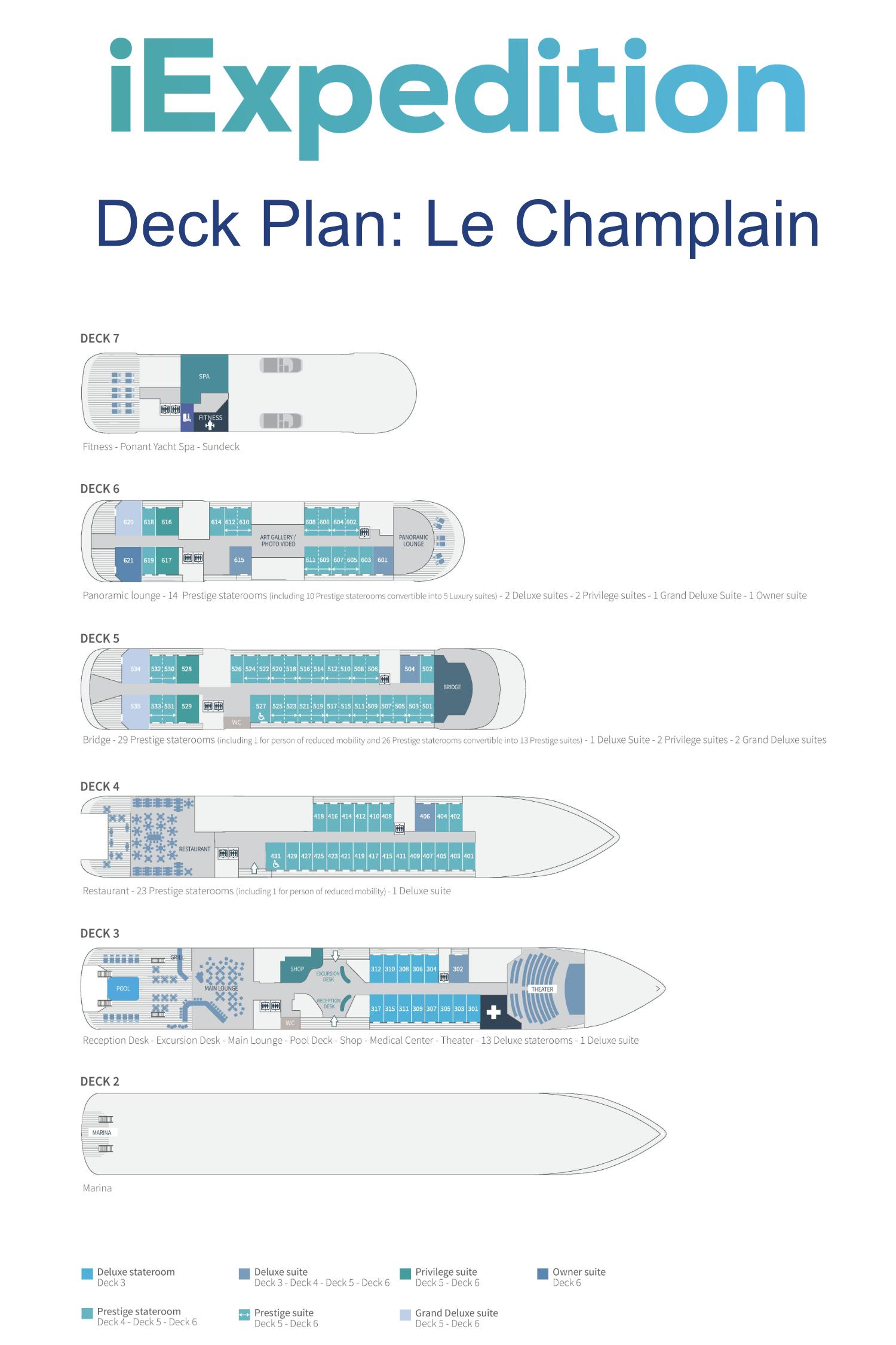 Le champlain deck plan