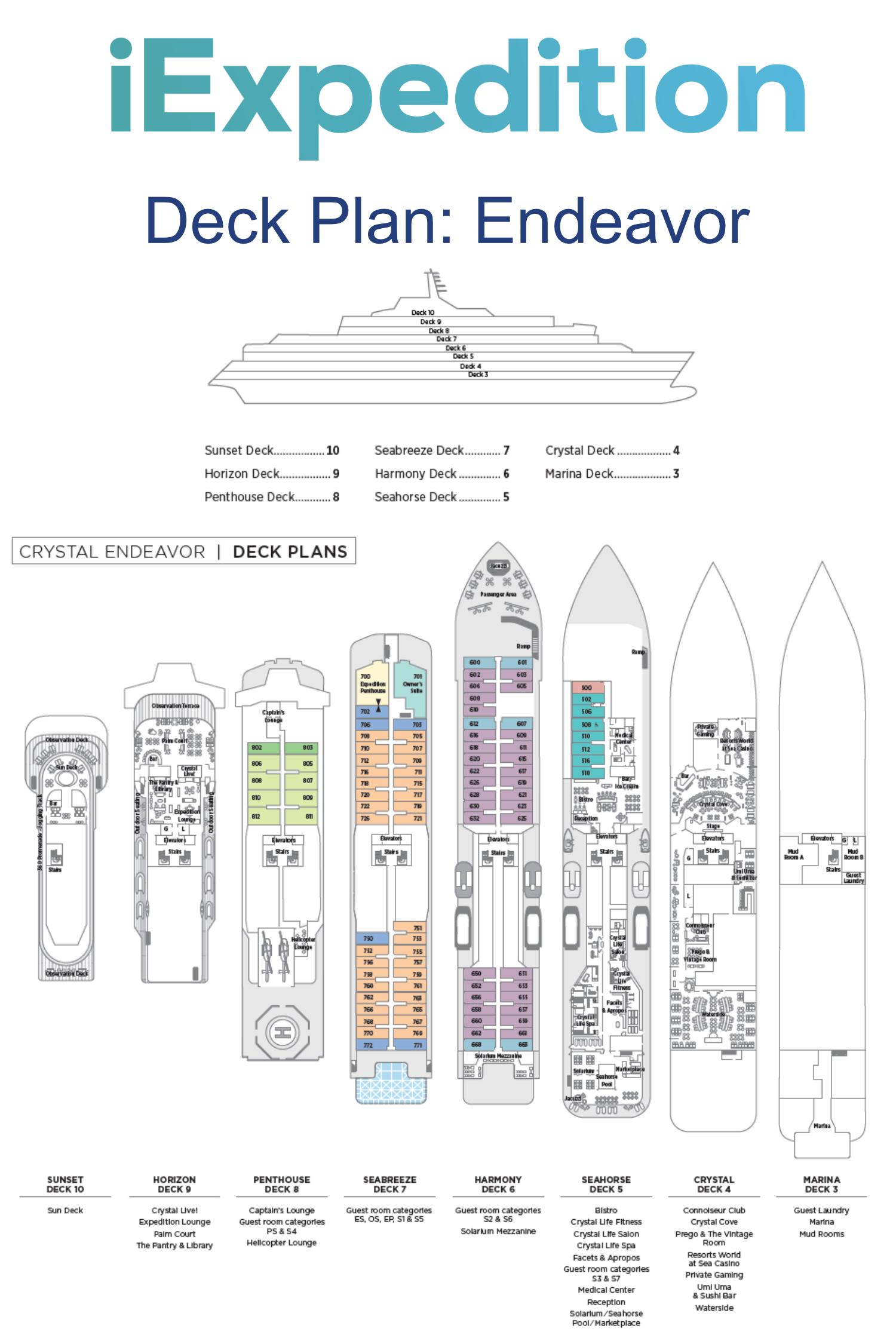 Endeavor deck plan