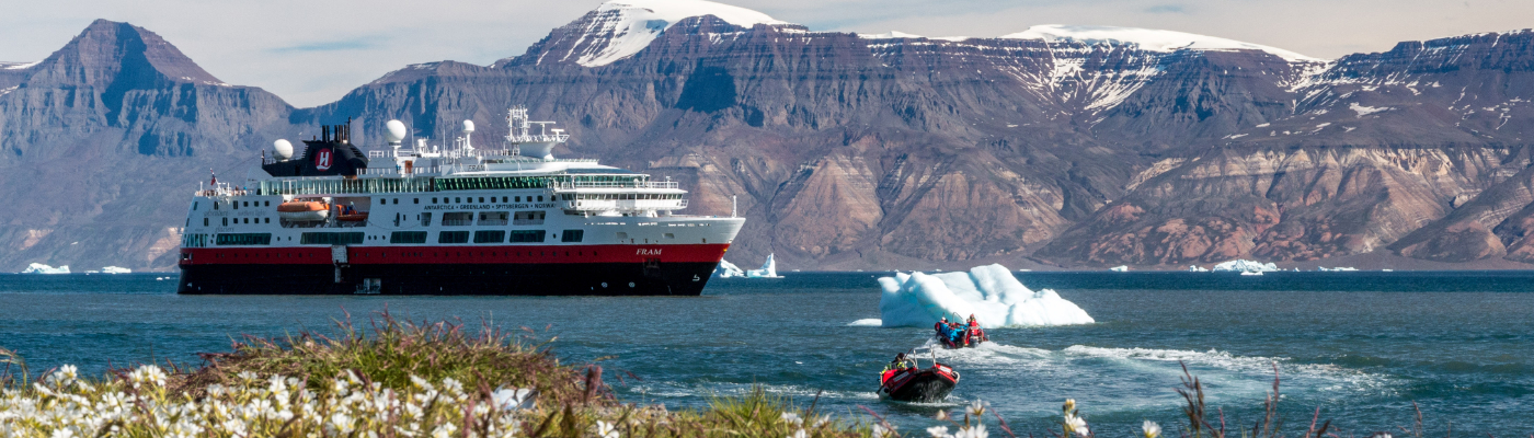 MV Fram antarctica and arctic expedition vessel