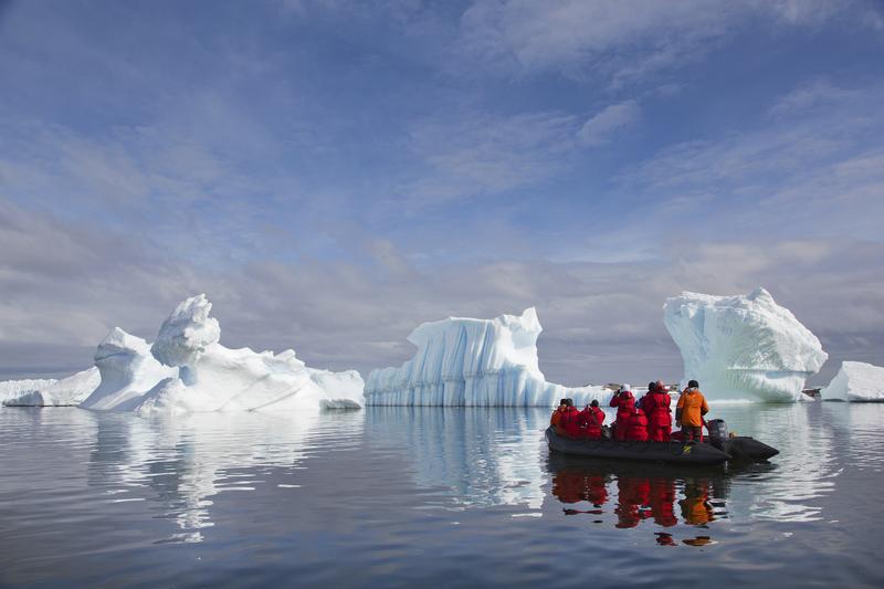 Ant zodiac cruising icebergs ira meyer 24
