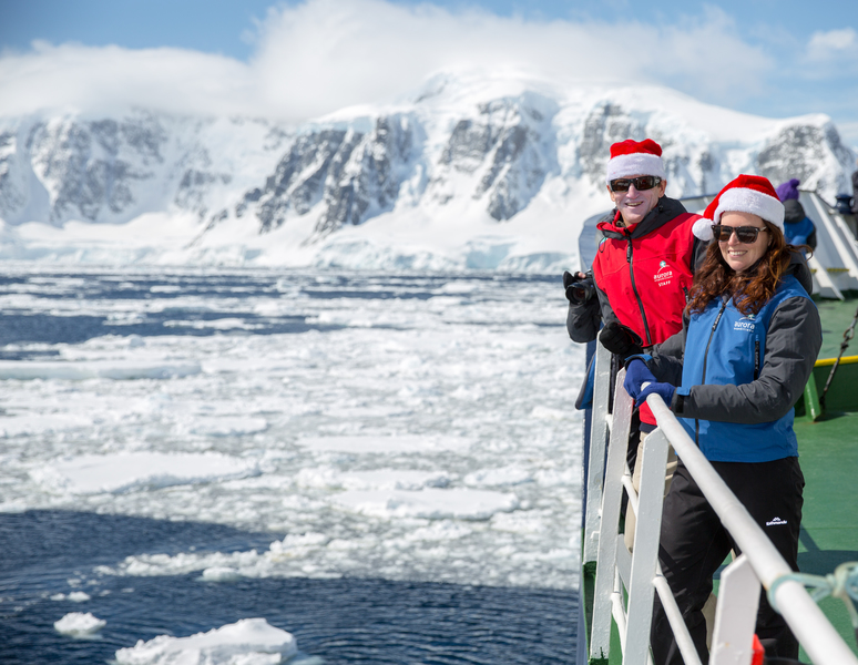 Christmas in antarctica courtesy of aurora expeditions