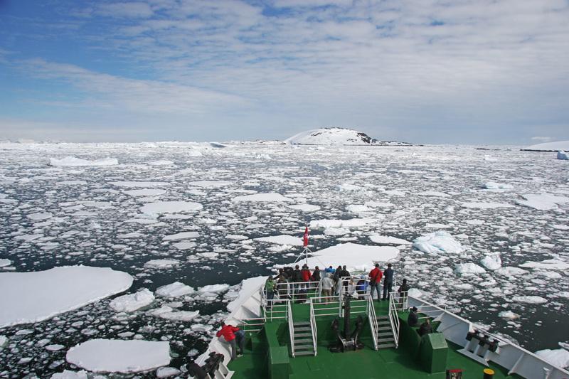 Antarctica expedition ship bow ice water crew shot 2010 img10011 lg rgb