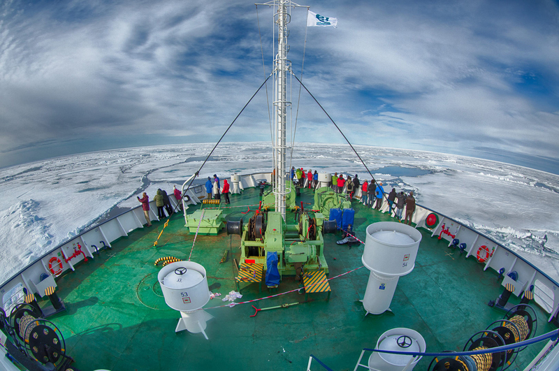 Ortelius in pack ice  spitsbergen arjen drost oceanwide expeditions