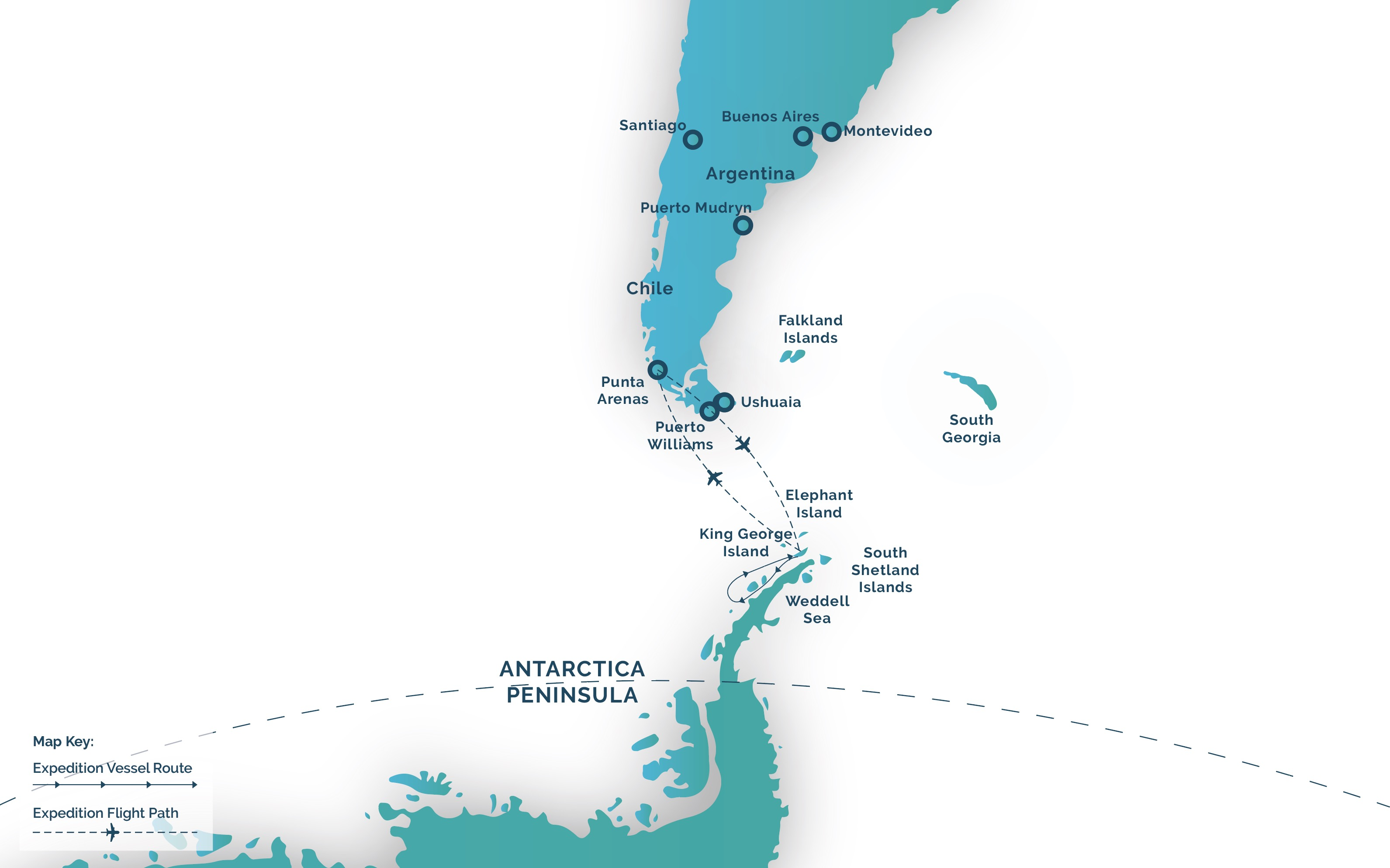Exclusive antarctica map