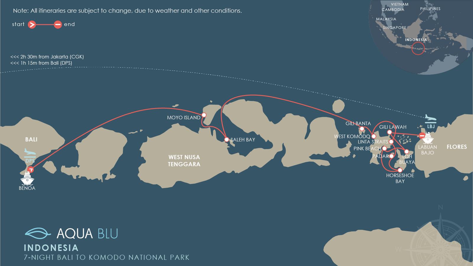 Aqua blu 7n bali to komodo national park